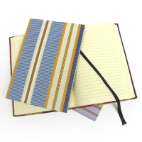 Textured stripe journal